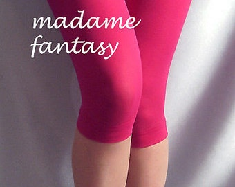 Cerise pink thin short spandex leggings