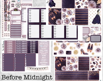 Before Midnight Full 6 Page Weekly Kit for the Erin Condren Life Planner
