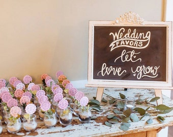 Let Love Grow Wedding Favor Sign