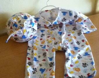 Infants Jumpsuit 16 - 18 Lbs Lil Zoo Friends Print 100% Cotton