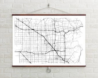 Map of Anaheim, Anaheim, Anaheim art, Anaheim map, Anaheim print, Anaheim decor, Anaheim gift, Anaheim art map, Anaheim poster, Wedding Gift