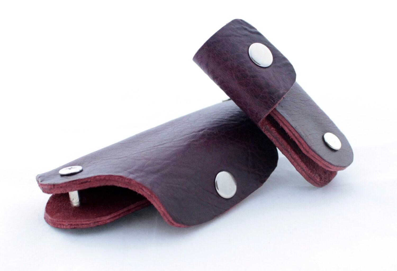 100 Hand Made Key Holder Burgundy Leather Key Holder Leather