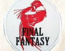 Final Fantasy Patch Embroidered Iron on Badge Retro Gamer Costume Applique Motif Bag Hat T-Shirt