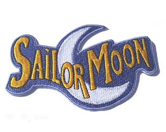 Sailor Moon Patch Embroidered Iron / Sew on Badge Costume Applique Motif Bag Hat T-Shirt Magical Luna Cat Sailor Mercury Retro Cartoon Anime