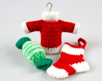 Crochet Pattern Free, Christmas Crochet Pattern,Christmas Tree Ornament,Crochet Christmas Pattern,Christmas Decoration,Set of Patterns P011