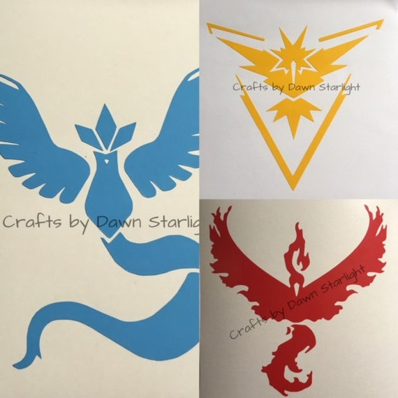 Pocket Monster Pokemon team decals Valor Instinct Mystic team decals