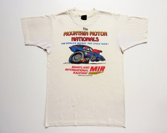 Vintage 80's Tee-Shirt Mountain Motor Nationals Pro Stock Drag Racing