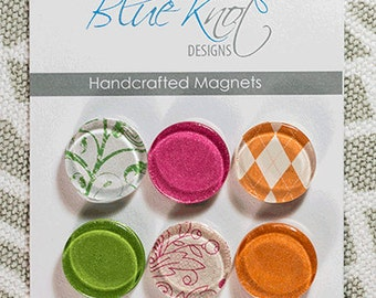 Handcrafted Color/Pattern Magnets (PACK OF 6)
