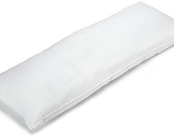 "20""x 60"" 100% Cotton 400 Thread Count Double Side Invisable Zippers Body Pillow Cover Pillowcase"