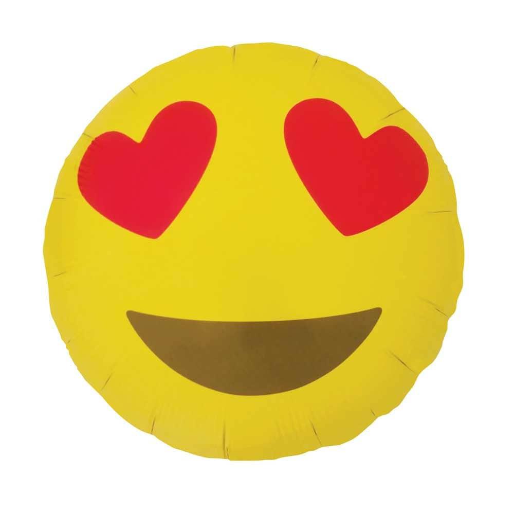 "Emoji Heart Eyes Balloon. 18"". Bachelorette Party Balloons"