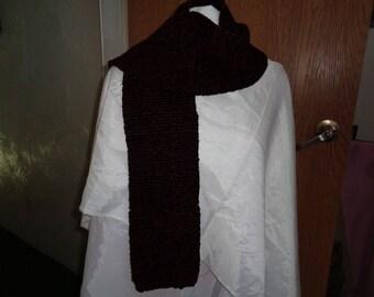 Chocolate knit scarf