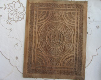 Antique hand carved lime wood panel, Victorian decorative floral wall hanging. , reclaimed, Architectural salvage
