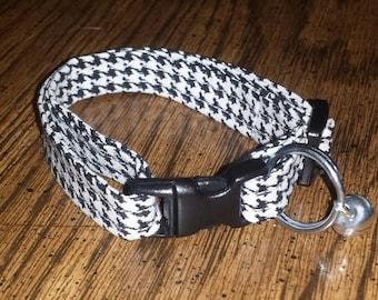 Cat Collar Houndstooth Breakaway Adjustable