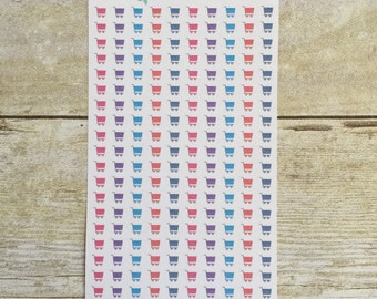 Bold Colors Shopping Carts Planner Mini Stickers M12