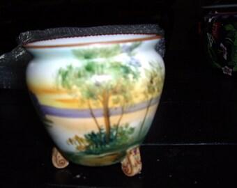 Nippon Moriage Handpainted Bowl