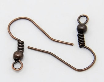 Copper Earring Wires 18mm (Set of 100)