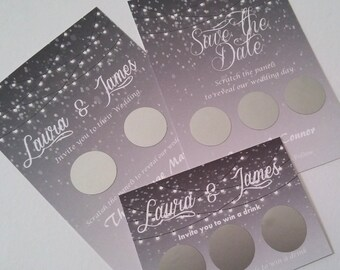 Scratch card save the dates A6