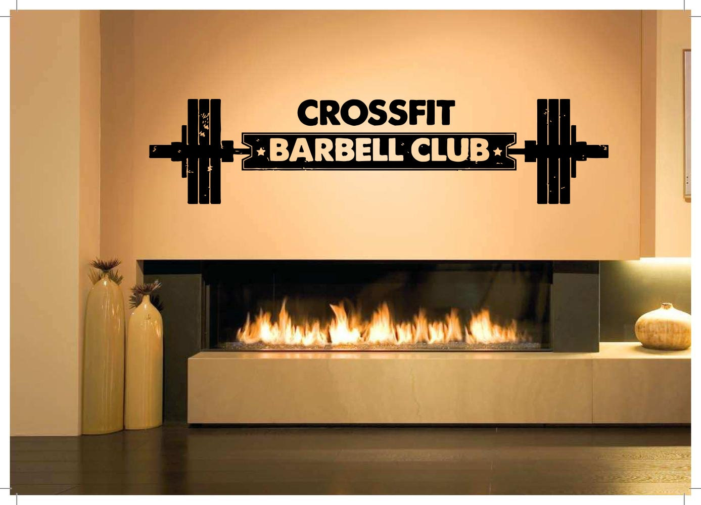 Removable Vinyl Sticker Mural Decal Wall Decor Poster Art Crossfit ...