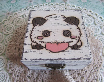 Cajita poro de League of Legends // Little box with League of Leguends' poro // LoL Videogames Videojuegos Handmade Hand painted