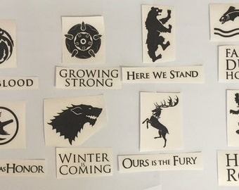 Game of Thrones Decals / Stickers