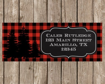 Lumberjack Return Address Labels, Lumberjack Address Labels, Lumberjack Labels, Lumberjack, Childrens Return Address Labels