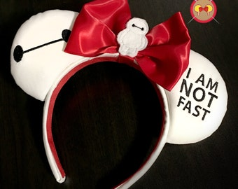 Baymax Embroidered Mickey Ears with Baymax Feltie