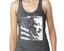 Martin Luther King MLK Day Women's Burnout Tank