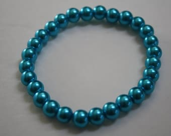 Turquoise Blue Pearl Bracelet, Pearl Bracelet, Blue Pearl Bracelet, Blue Pearls, Turquoise Bracelet