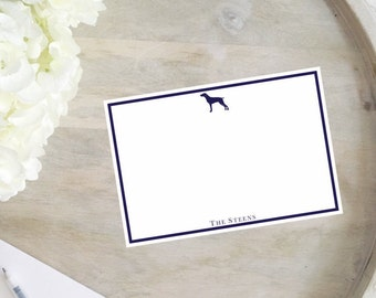 Personalized Stationery- Custom Dog Breed Note Cards- Set of 25