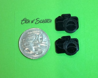 Laser Cut SLR Camera Acrylic Scrapbooking Embellishment