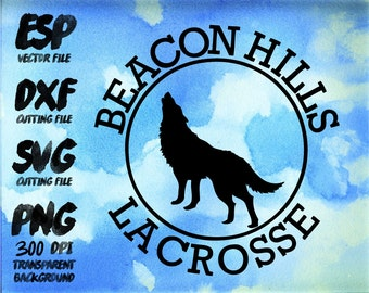 Beaconhills Lacrosse Clipart , SVG Cutting , ESP Vectors files , T shirt , iron on , sticker ,Personal Use