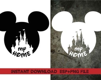 My home mickey headClip Art,T shirt, iron on , sticker, Vectors files ,Personal Use