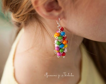 Colorful Earrings handmade, colorful jewelry, jewelry earrings,colorful beads,colorful earrings,handmade jewelry, jewelry
