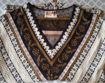 Vintage Indian Middle Eastern inspired Top size small