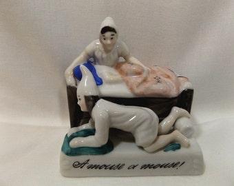 Vintage Fairing A Mouse or Mouse Porcelain Figurine German Shwanz und Stier