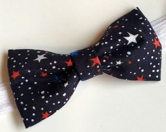 Navy Blue Star Bow