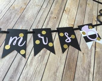 Kate Spade bridal shower banner