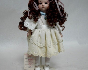 """One of a Kind Obeda's Handmade 13"""" Porcelain  Victorian Doll"""