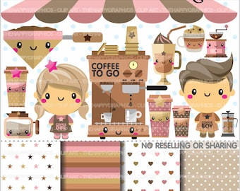 80%OFF - Coffee Clipart, Coffe Graphics, COMMERCIAL USE, Coffee Shop, Latte Clipart, Planner Accessories, Coffee Party, Cup of Coffee