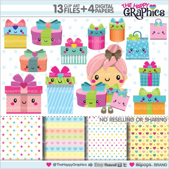 Gift clipart 80off gift graphics commercial use present gift clipart 80off gift graphics commercial use present graphics gift box clipart planner accessories box birthday party from thehappygraphics on negle Image collections