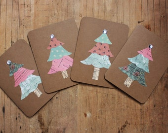 It's a Shabby Chic Christmas! Set of 4 blank cards