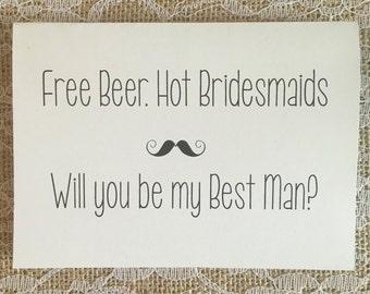 Groomsman / Best Man Card - hot bridesmaids