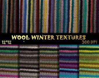 Knitted Digital Paper, Wool Scrapbook Paper, Fabric texture, Knitted Scrapbook, Wool Digital Paper,Winter textures,Knitted Wool Scrapbooking