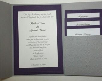 Elegant Eggplant Wedding Invitation