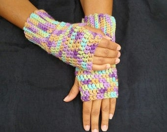 Fingerless mittens,Crochet Wrist warmers,Crochet fingerless glove,Women fingerless mittens,Mitts