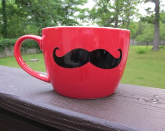 Oversized Mustache Coffee Mug