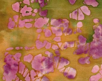 "Batik Fat Quarter 100% Cotton Fabric 18"" x 22"" - Multi-Color # 50"