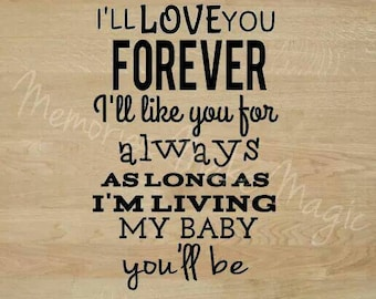 I'll  love you Forever-Wall Art
