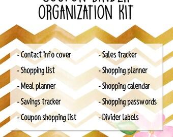 Coupon Binder Organization Kit - Gilded Chevron