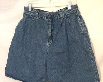 Northwest blue vintage high waisted denim shorts sz 16 Large
